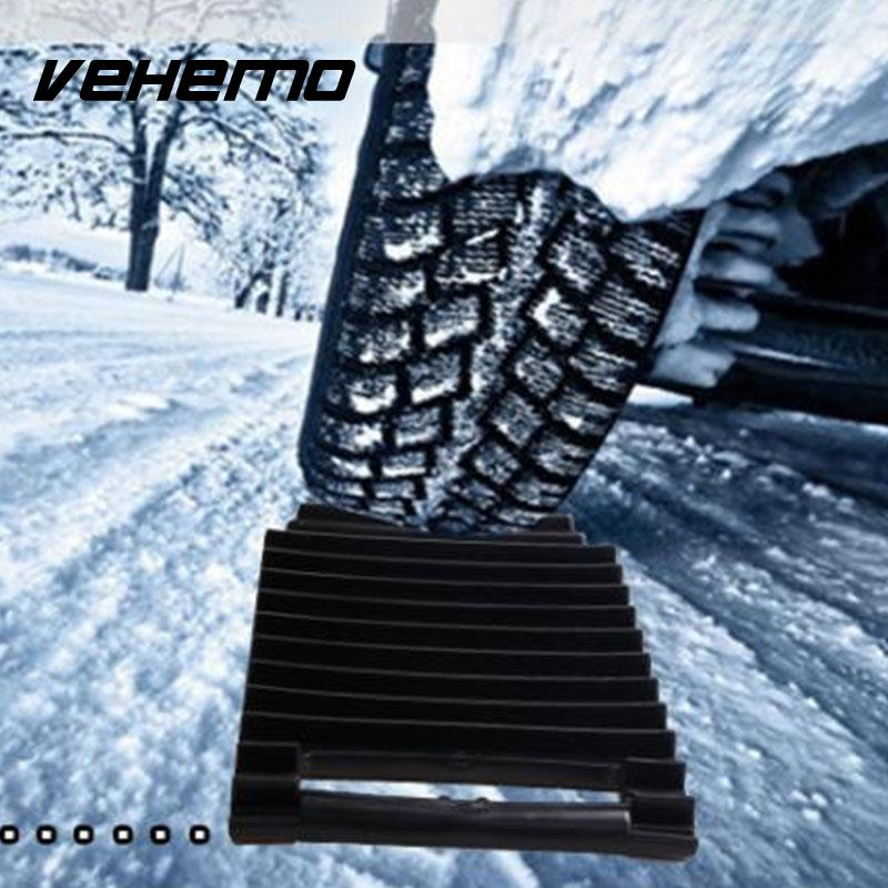Vehemo Black Tire Mat Mud Wheel Snow Mat Universal Accessories Tire Non-Slip Mat Roadway Safety Multifunctional Winter Driving