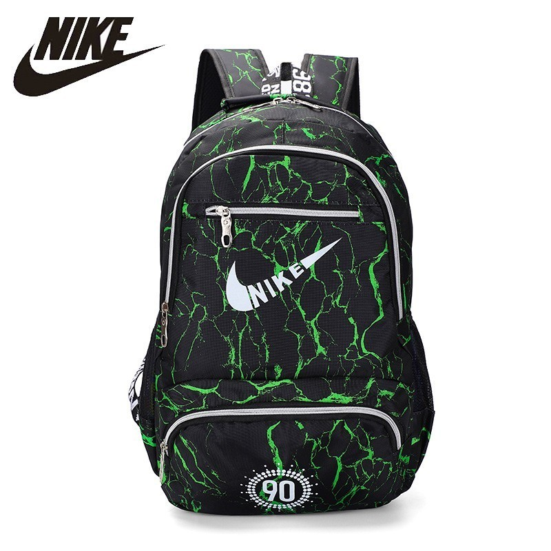 NIKEO Large Capacity Canvas Backpack Breathable Gym Bag Qualiy School  Bag