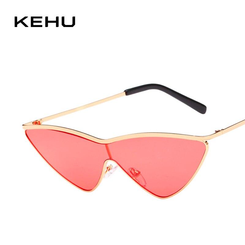 KEHU Retro Gold Frame Glasses New Style Cat Eye Sunglasses Women Fashion Sun Protection Sunglasses Cat Eye Women Glasses K9331