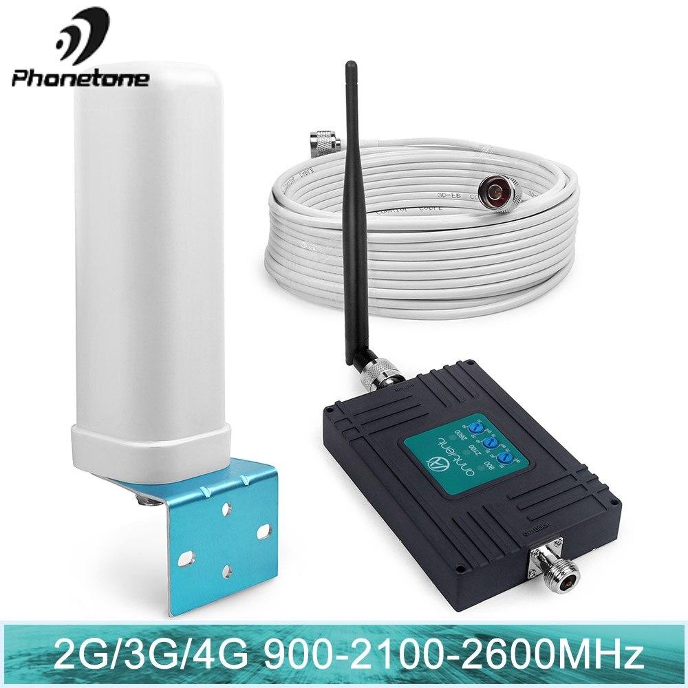 GSM 900 WCDMA 2G 3G 4G FDD LTE 2600 Booster de Signal de téléphone portable GSM 3G 4G LTE 2600 répéteur 900 2100 2600 amplificateur mobile Booster