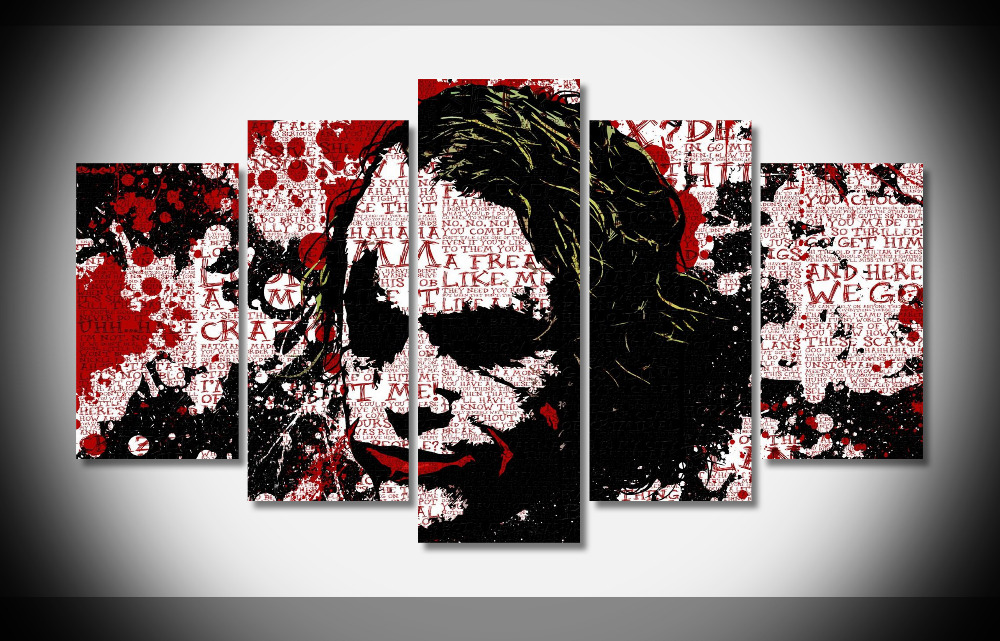 US $56 99 |P1574 Joker Batman The Dark Knight Poster Framed Gallery wrap  art print home wall decor wall picture Already to hang digital -in Painting  &