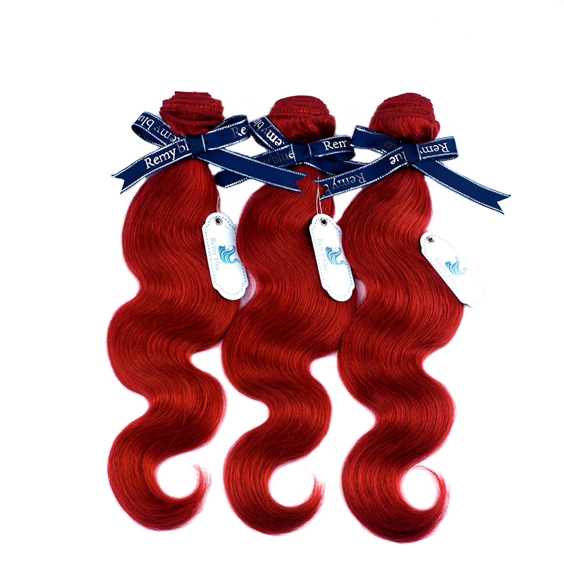 Remy Blue Red Hair Bundles Burgundy Brazilian Body Wave Bundles Deals 10-26 inch Human Hair Weave Extension Remy Hair No Tangle (14)