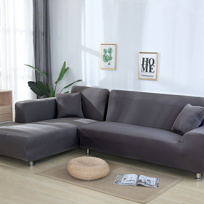 Sofa-Cover Armchair Elastic Couch Living-Room Grey-Color Sectional