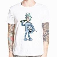 2018 для мужчин Рик и Морти забавные футболка аниме повседневное короткий рукав О образным вырезом homme летняя белая футболка Swag футболка HCP134