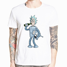 2018 Men's Rick and Morty Funny Anime T-shirt Casual Short sleeve O-Neck homme Summer Whit