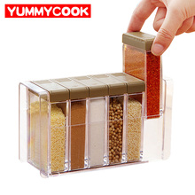 6pcs/Set Kitchen Pepper Shakers Herb Spice Tools Salt Sugar Condiment Bottle Organizer Outdoor BBQ Kitchen Gadgets Accessories