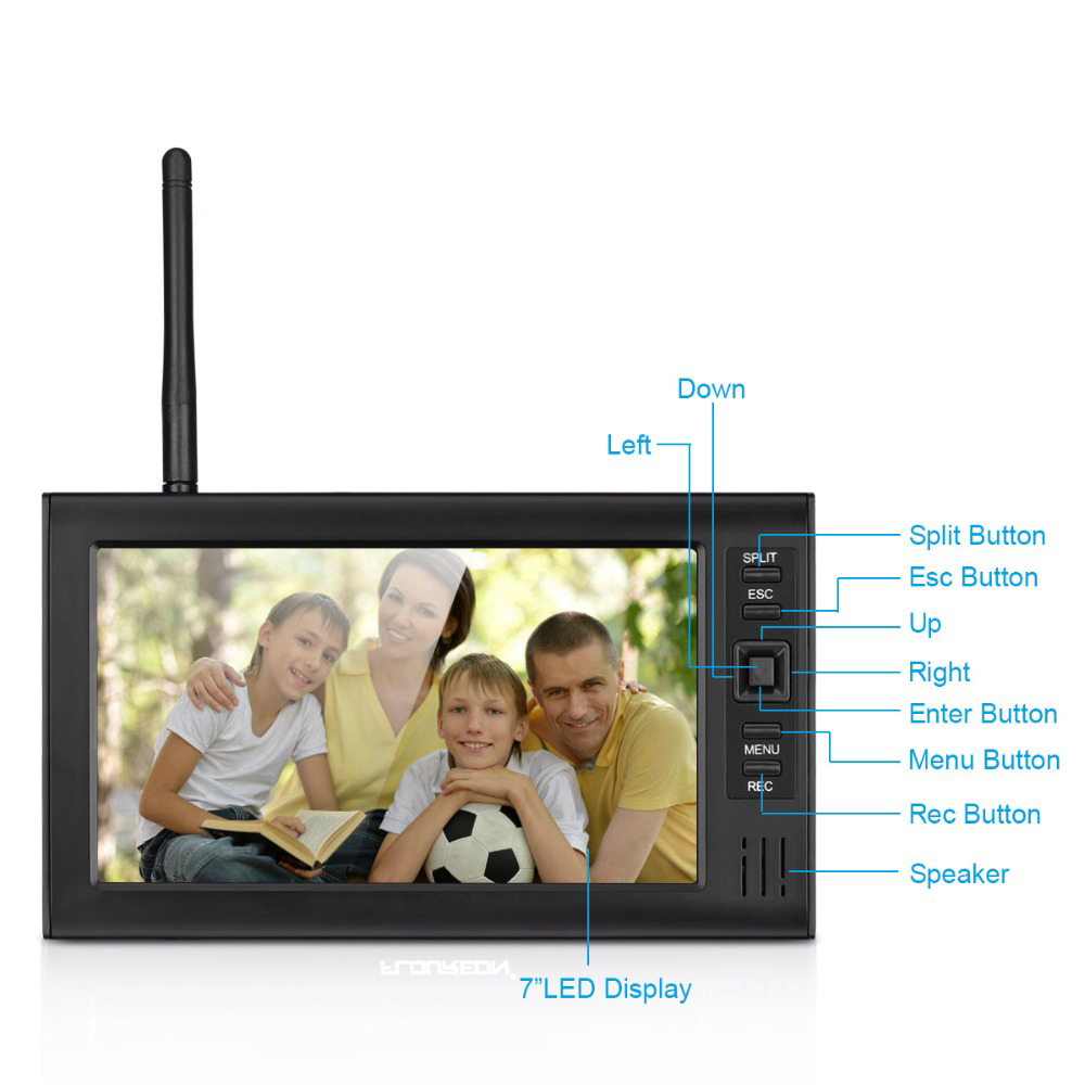 HTB1vyG2j63z9KJjy0Fmq6xiwXXaW - 2ch   video recorder  kit   for  home  surveillance  2.4G  DVR cameras   security  system