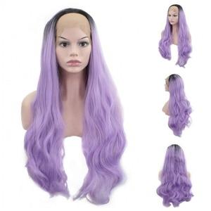 Image 5 - JOY&BEAUTY 26inch Long Wavy Synthetic Lace Front Wig Glueless Heat Resistant Swiss Glueless 150% Density For Women