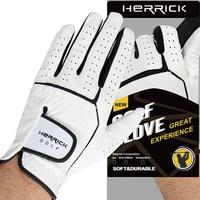 NEW Golf glove men Left hand genuine leather Non slip Sheepskin fabric glove free shipping