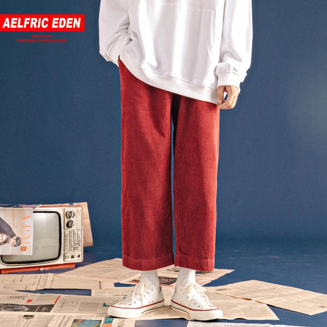 Aelfric Eden Corduroy Casual Pants Men Women Wide Leg Joggers Autumn Winter Street Wear Hip Hop Fashion Harajuku Trousers Kj187 Skillful Manufacture