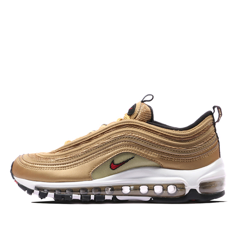 Nike Air Max 97 OG QS Woman Running scarpa Gold And Silver Bullet Sports Sneakers #885691 001 700