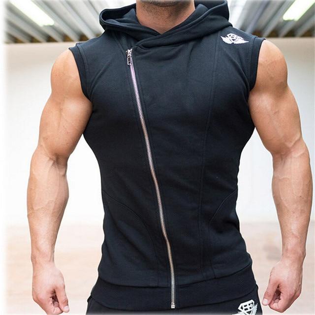 a87eadd9 Mens Sleeveless Sweatshirt Hoodies Top Clothing T-Shirt Hooded Tank Top  Sporting Hooded for Men