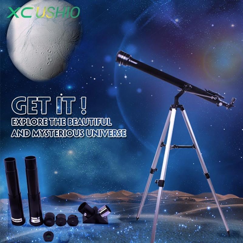 Портативный Открытый Монокуляр космический астрономический телескоп со штативом 675X Zoom любительский астрономический телескоп F90060 детский ...