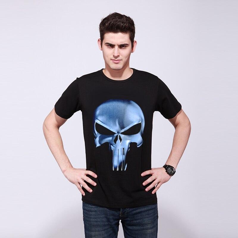 Rocksir punisher t shirt 남성 여름 처벌 스컬 헤드 그림 3D - 남성 의류 - 사진 6