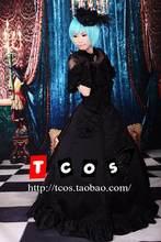 Brdwn Vocaloid Women s Hatsune Miku Secret Cosplay Costume Lolita Black  oath Rode Evening Dress Wedding Gown 5377a4de30cb