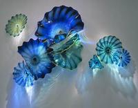 Estilo mar de Cristal Azul da Cor do Projeto Da Arte Placas De Parede De Vidro de Murano