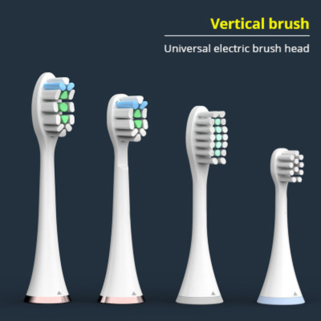Vertical brush Toothbrush head electric toothbrush Special toothbrush head Adult children replaceable Dupont brush