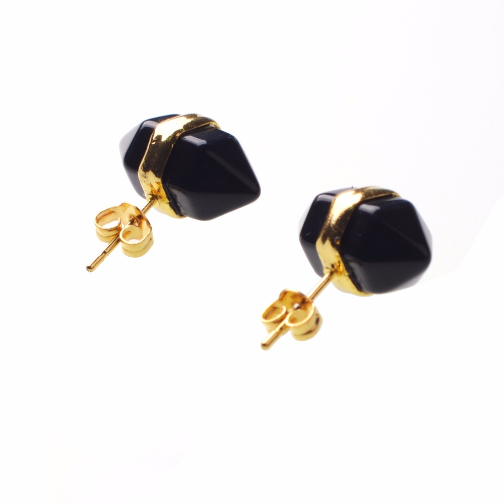 european gifts jewelry mini gold musiling double product fashion stone girls fashionable from plated stud chakra point earrings charms natural