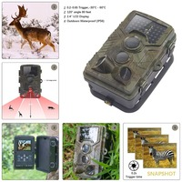 12MP 1080P Wildlife Camera Photo Traps With 120 Wide Angle Trail Surveillance Camera Night Vision Hidden