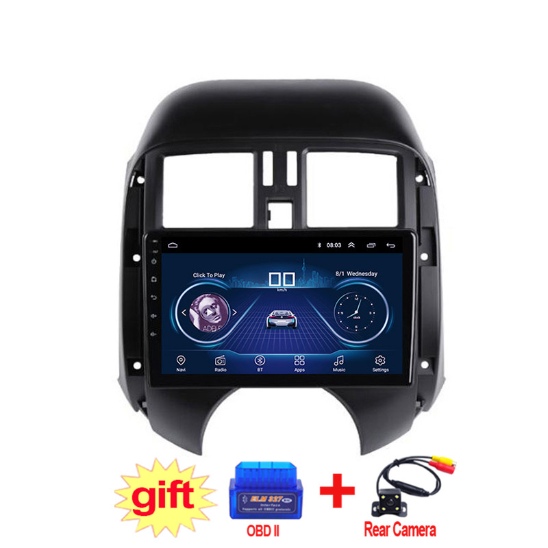 9inch IPS and 2.5D Touch Screen Android 8.1 Car DVD GPS Navigation for Nissan sunny 2011 2012 2013 Radio Audio Stereo