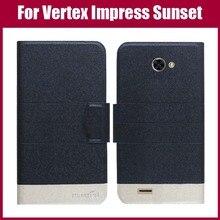 Лидер продаж! Vertex Impress Sunset NFC чехол Новое поступление 5 цветов модный флип ультратонкий кожаный защитный чехол для телефона сумка
