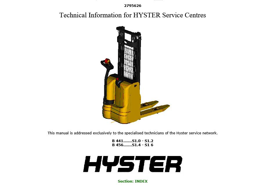 online buy wholesale hyster manuals from china hyster. Black Bedroom Furniture Sets. Home Design Ideas