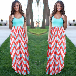 Women summer beach boho maxi dress 2016 high quality brand striped print long dresses feminine plus.jpg 250x250