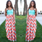 Save 8.09 on Women Summer Beach Boho Maxi Dress 2016 High Quality Brand Striped Print Long Dresses Feminine Plus Size