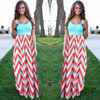 Women Summer Beach Boho Maxi Dress 2016 High Quality Brand Striped Print Long Dresses Feminine Plus