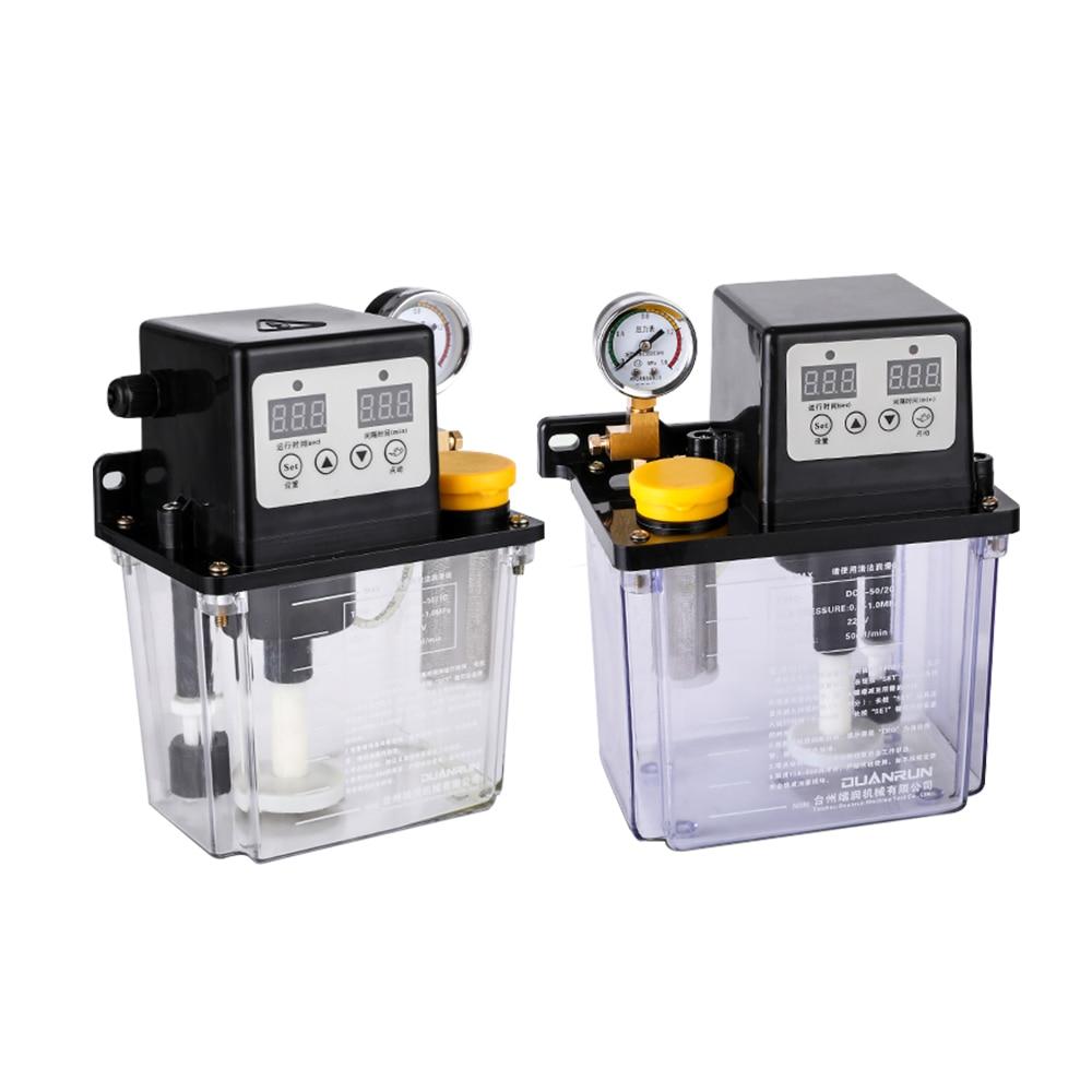 1 PC 220 V 1L 2L 2 litres pompe à lubrifiant pompe à huile lubrifiante automatique CNC lubrificateur de pompe de lubrification électromagnétique