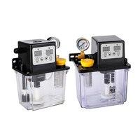 1PC 220V 1L 2L 2 Liters Lubricant Pump Automatic Lubricating Oil Pump CNC Electromagnetic Lubrication Pump Lubricator