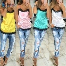 Fashion Women Camisoles  Summer Lace Patchwork Vest Tops SI01
