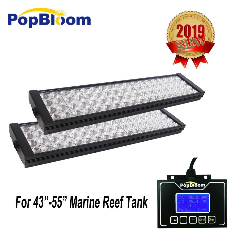 PopBloom lampe aquarium led pecera light for aquarium fishing signal control full spectrum sunrise sunset MJ4BP2