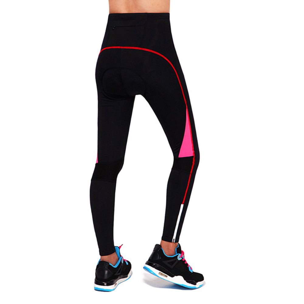 WOSAWE Running Pants for Women Spring Autumn Lady Trousers Gel Pad Full Length Yoga Pants Tights Sportswear Accessories