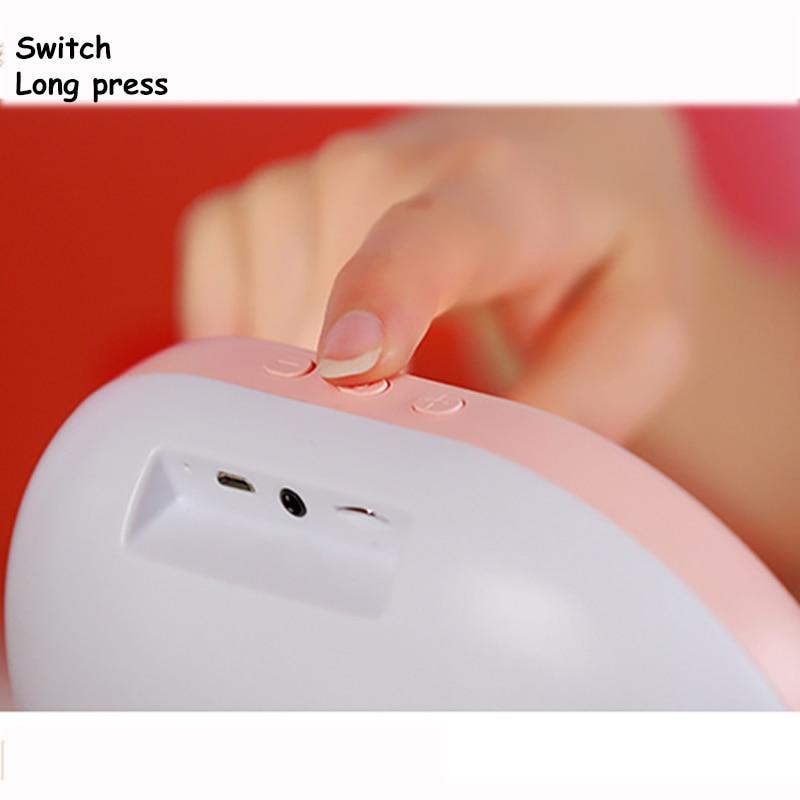 USB charging LED makeup Bluetooth mirror audio night light support TFcard Vanity cosmetics women hand mirror reading table lamp