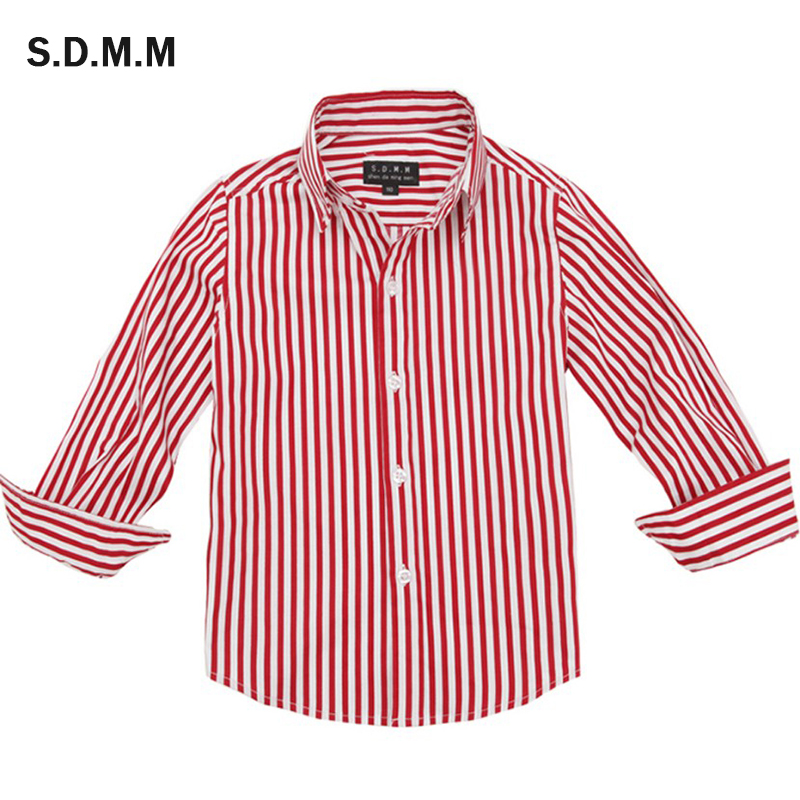 Children in the spring and autumn pure cotton shirt, 1-13 years children's clothing casual student boys long sleeve shirt business casual men long sleeve shirt spring autumn silm fit cotton stitching solid color oxford textile