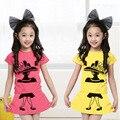 Muchachas del verano Ropa de Las Muchachas de La Falda Niña de Manga Corta Impresa Camisetas + Falda Set Set para Niños Chicas roupas infantis menina