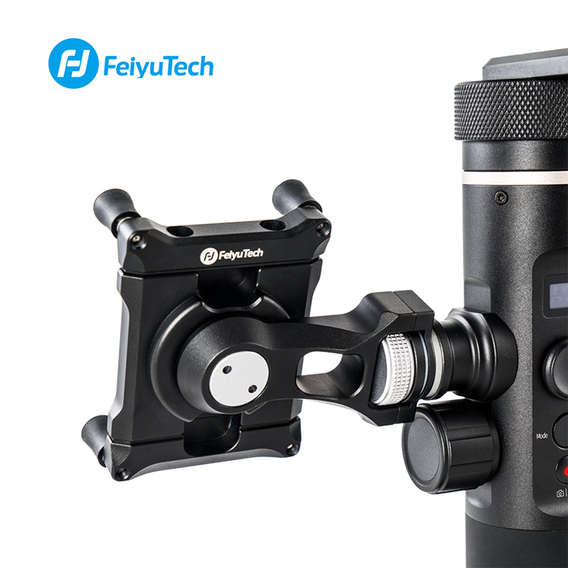 Feiyu Phone Holder Mount Adapter for SPG2 G6 G6 Plus Bracket Clip Clamp Holder for Action Camera Gimbal iPhone X 8 7 Samsung