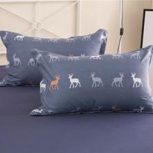JU Home Textiles 100%Cotton Simple Bohemian Style 3/4pcs Bedding Sets Bed Linen Include Duvet Cover Bed Sheet Pillowcase