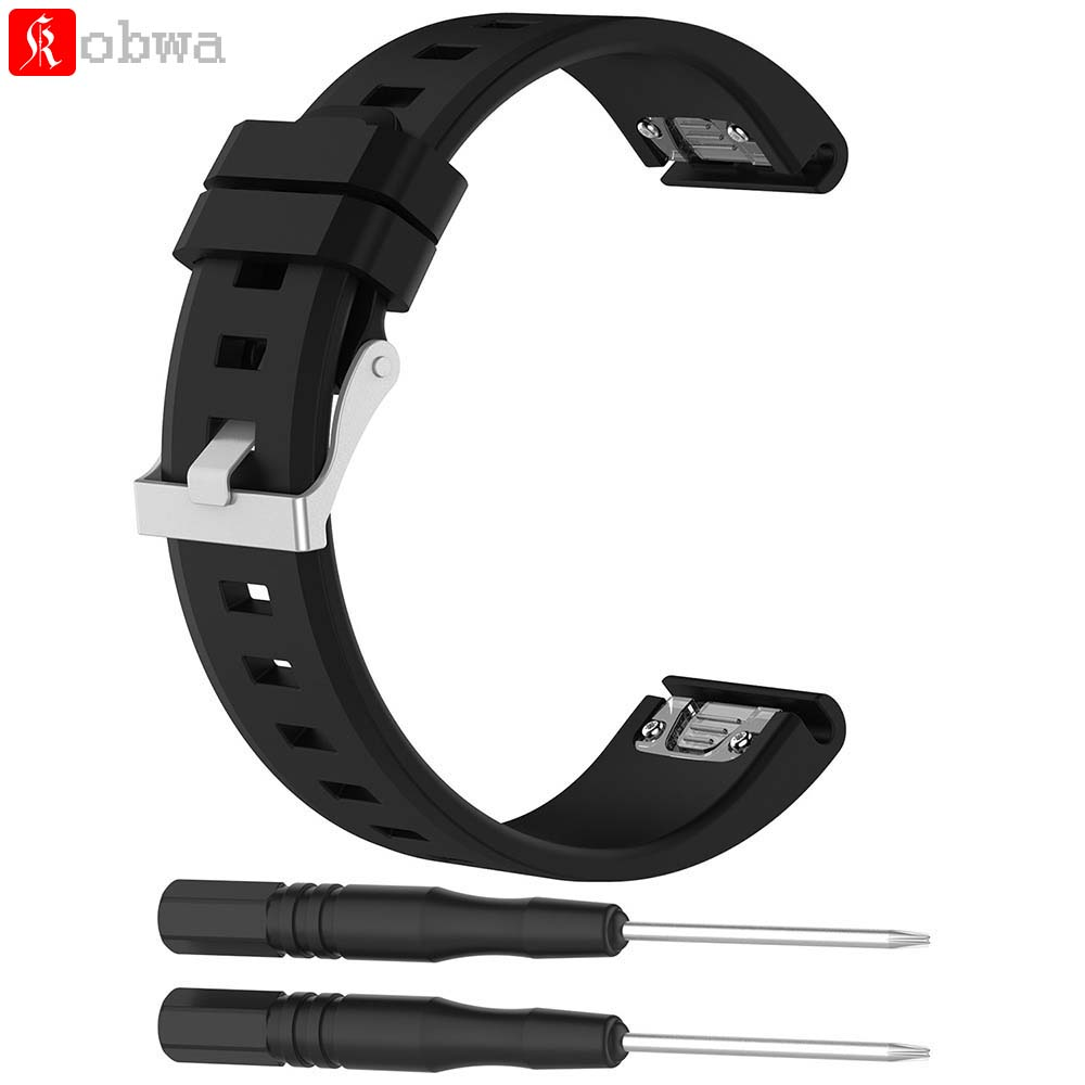 Watchband for Garmin Fenix 5 GPS Watch 22mm Sports Silicone Quick Release Wrist Band With Tools Quickfit Watch Strap for Fenix5 watch band for garmin fenix 5 gps watch luxury leather strap replacement watch band with tools for garmin fenix 5 gps watch a 16