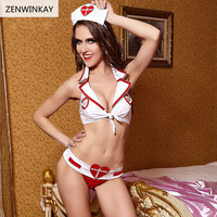 Female Erotic Lingerie Sexy Hot Cosplay Sexy Costume Women Sexy Role Play Porno Sex Nurse Slutty Outfit 3 Pieces Set