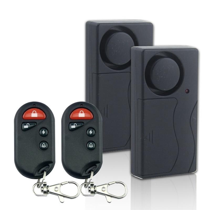 <font><b>Wireless</b></font> <font><b>Remote</b></font> <font><b>Control</b></font> <font><b>Vibration</b></font> Motorcycle Bike Door Entry Magnetic <font><b>Alarm</b></font> Alert Security Home Device 2 Host+2 <font><b>Remote</b></font> <font><b>control</b></font>