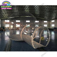 Best quality 4m dome outdoor transparent inflatable camping bubble tent for sale