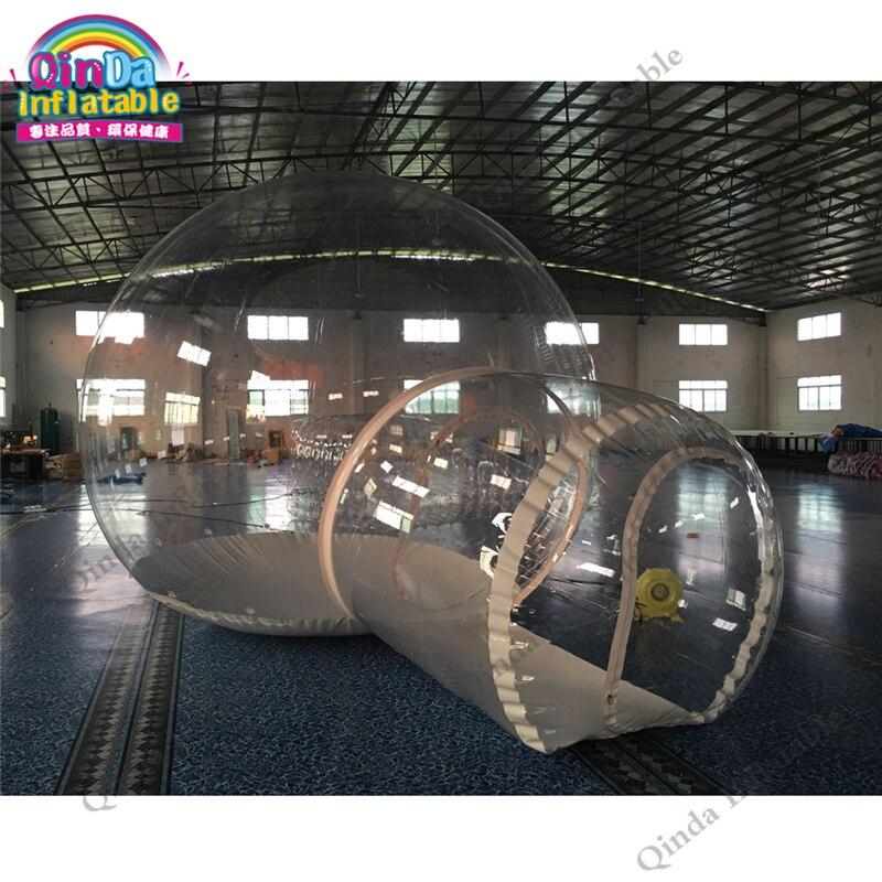 Meilleur qualité 4 m dôme extérieur transparent gonflable camping tente-bulle pour vente