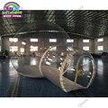 Mejor calidad 4 m Domo exterior transparente inflable camping burbuja tienda para la venta