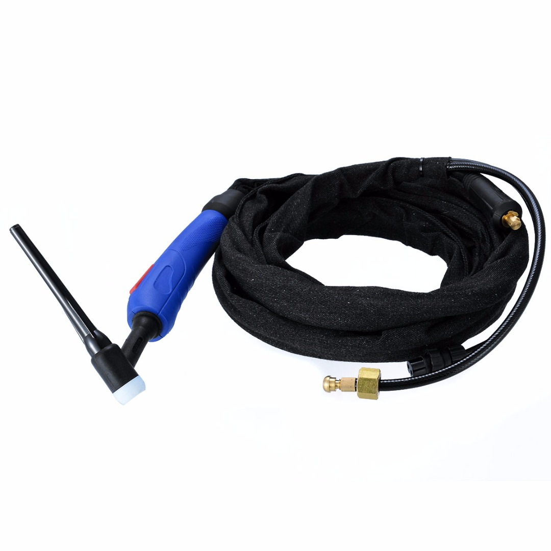 High Quality WP-17FV 12-Foot Tig Welding Torch Kit 150Amp Air-Cooled with Flexible Valve Head For Argon Arc Welding Machine wp 17v sr 17v tig welding torch complete 26feet 8meter soldering iron gas valve control air cooled 150amp