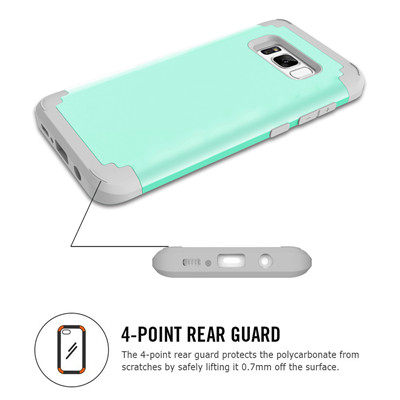 Heavy Duty Hybrid Case For Samsung Galaxy S8 S8Plus Shockproof Armor Rugged Case Cover Hard PC + Soft Rubber Silicone Phone Case (18)