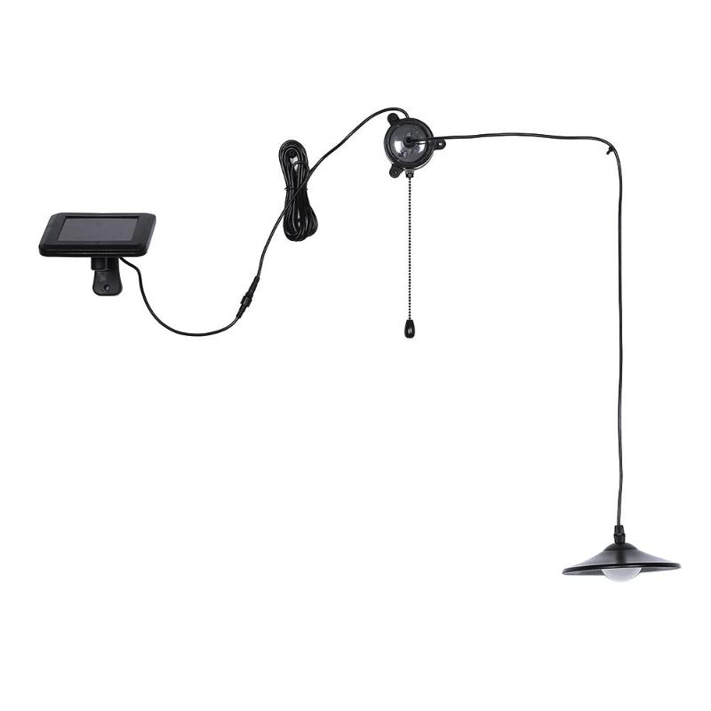 Stainless Steel Shade Solar Power Light Reading Study Bar Counter Indoor Room Ceiling Hanging Pendant Lamp with Remote Control