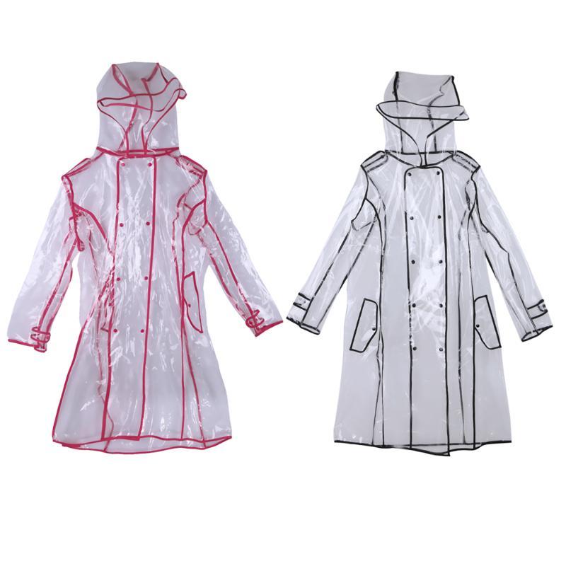 bestfur Womens Raincoat with Translucence ECO-EVA Fashion Design