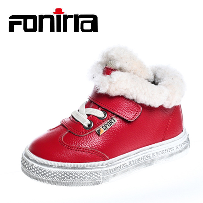 New High Quality Children Winter Warm Casual Shoes Boys And Girls Flat Ankle Leather Shoes Kids School Cotton Shoes 346 babyfeet 2017 winter children shoes fashion warm suede leather sport running school tenis girl infant boys sneakers flat loafers